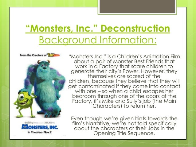 Monsters Inc Opening Title Sequence Deconstruction