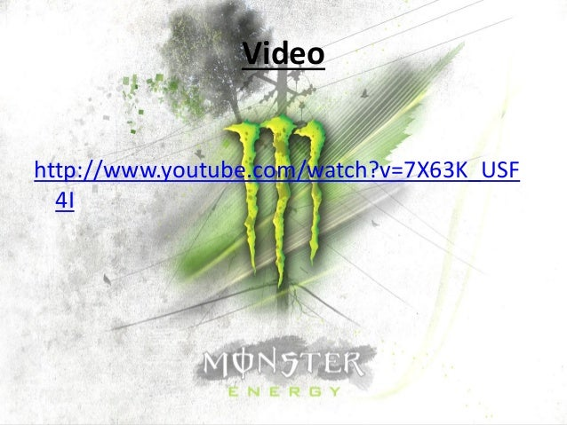 monster swot Monster beverage corporation - strategy and swot report, is a source of comprehensive company data and information the report covers the company's structure, operation, swot analysis, product and service offerings and corporate actions, providing a 360˚ view of the company.