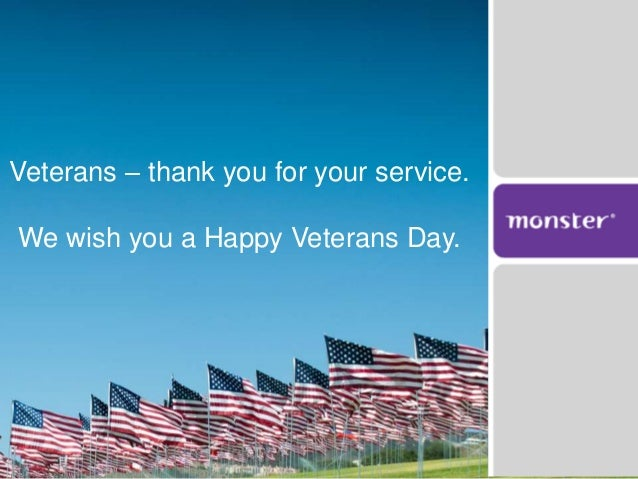 Veterans Thank You For