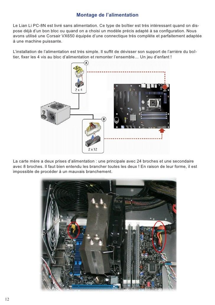 Montage de l'alimentation       Le Lian Li PC-8N est livré sans alimentation. Ce type de boîtier est très intéressant quan...