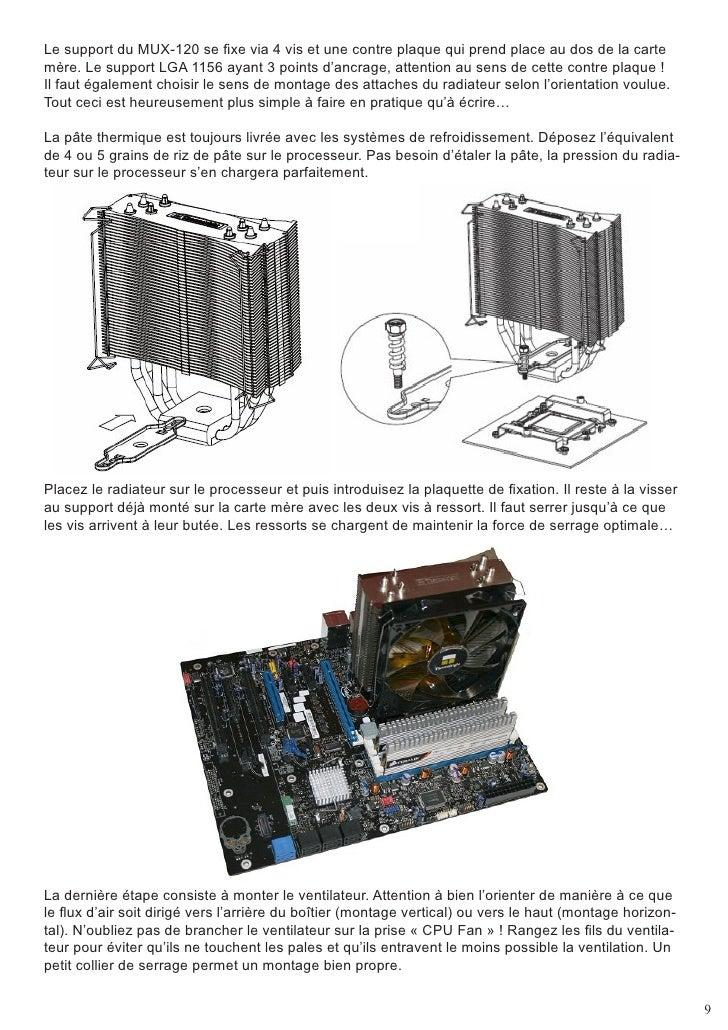 Le support du MUX-120 se fixe via 4 vis et une contre plaque qui prend place au dos de la carte mère. Le support LGA 1156 ...
