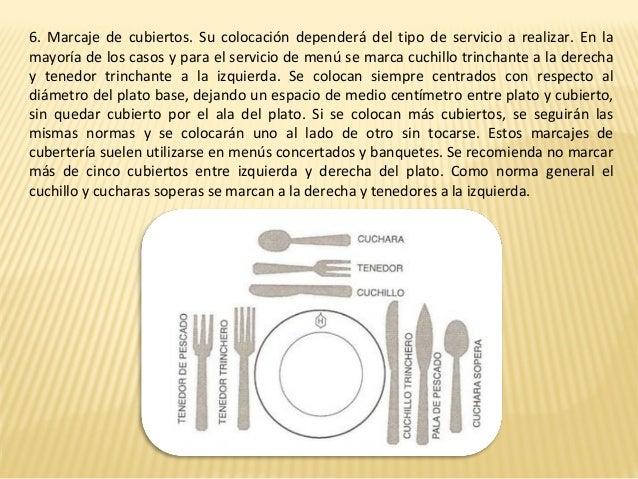 Montaje de mesas for Colocacion de los cubiertos en una mesa