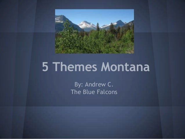 5 Themes Montana     By: Andrew C.    The Blue Falcons