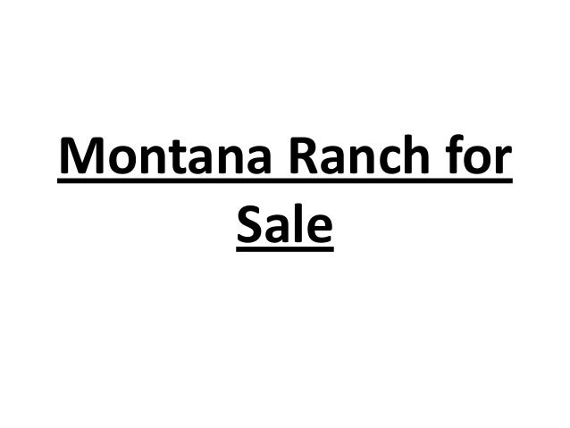 Montana Ranch for Sale