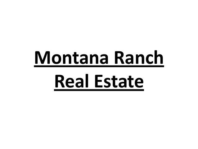 Montana Ranch Real Estate