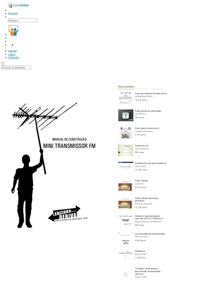 Curso de conserto de radio am fm  softwaretecnologia  12,570 views  Transmissão de informação  Júlio Rocha  359 views  Cur...