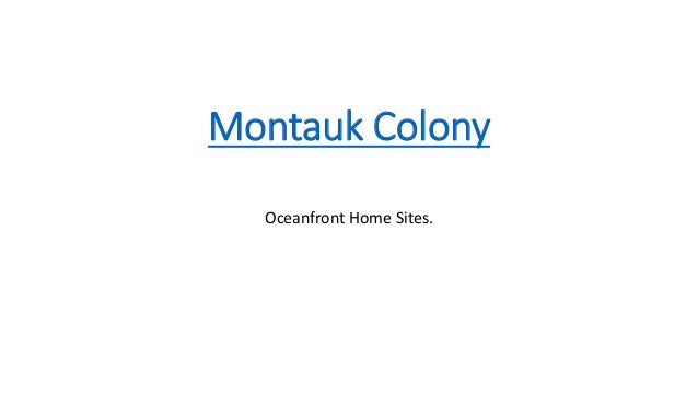 Montauk Colony Oceanfront Home Sites.