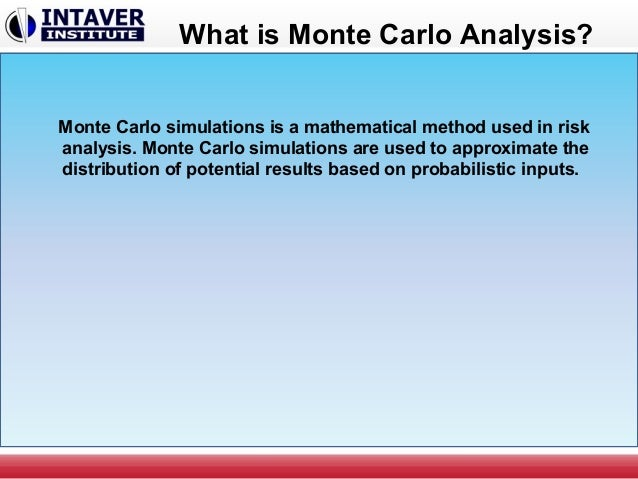 Trading system monte carlo analysis