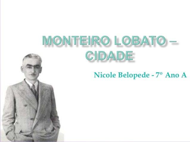 Nicole Belopede - 7º Ano A