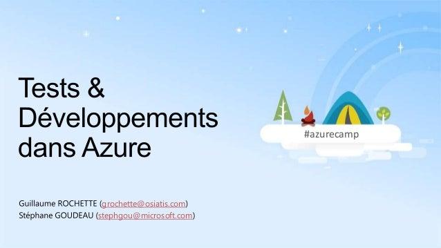 #azurecamp  grochette@osiatis.com stephgou@microsoft.com