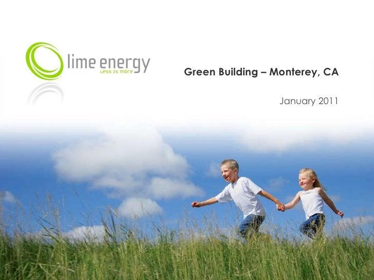 Green Building – Monterey, CA January 2011