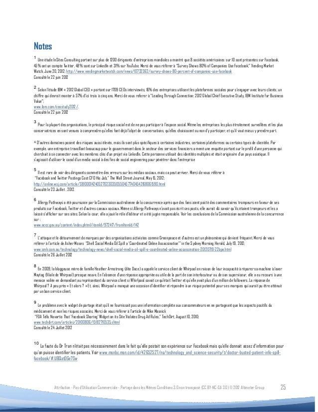 Notes1  Une étude InSites Consulting portant sur plus de 1200 dirigeants d'entreprises mondiales a montré que 8 sociétés a...