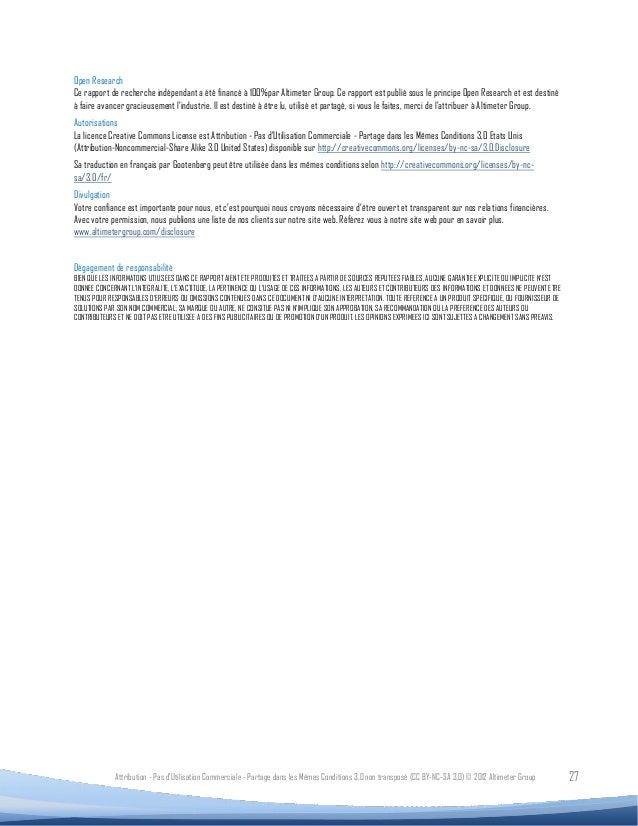 Open ResearchCe rapport de recherche indépendant a été financé à 100%par Altimeter Group. Ce rapport est publié sous le pr...