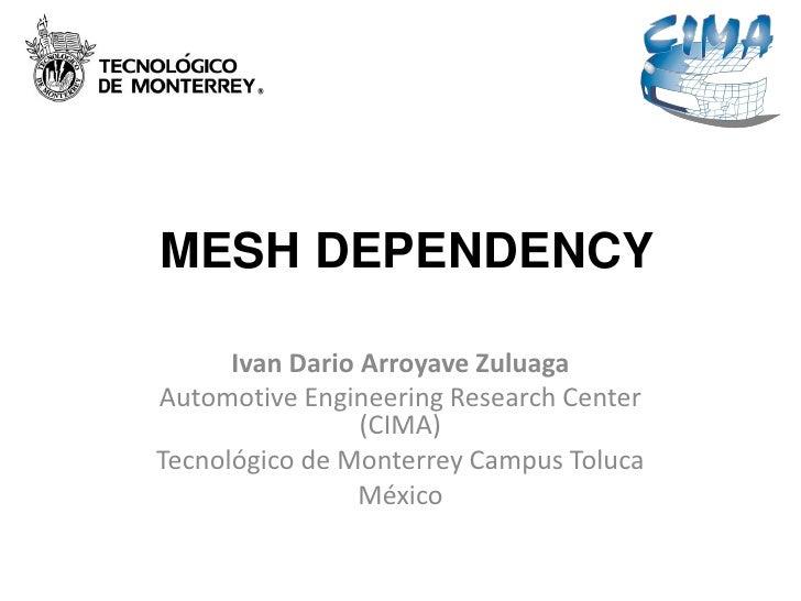 MESH DEPENDENCY      Ivan Dario Arroyave ZuluagaAutomotive Engineering Research Center                 (CIMA)Tecnológico d...