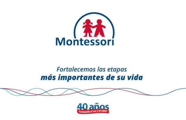 "fi  Montessori  Fortalecemos Ias etapas més importantes de su vida     A n J .  I o Formando el séfY 9'531""?"