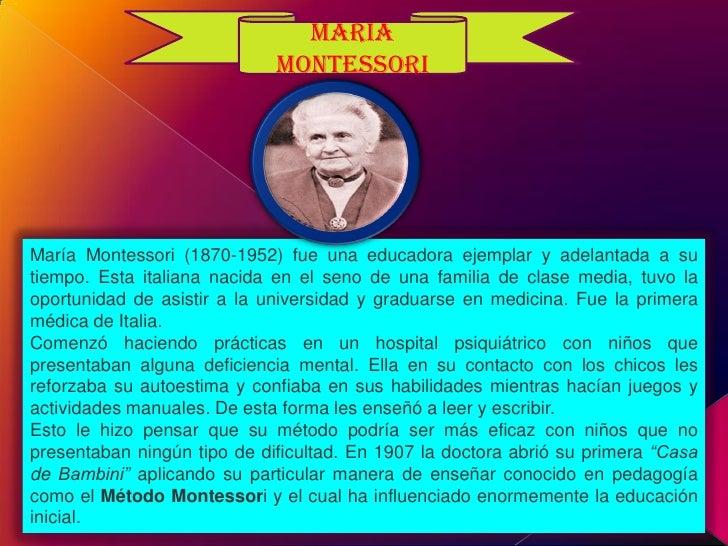 Marìa Montessori