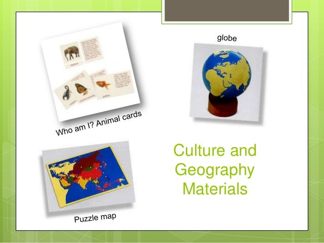 Culture and Geography Materials