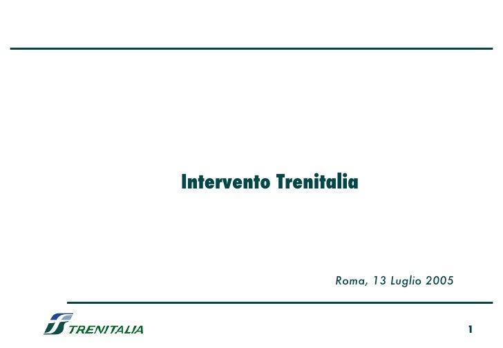 Intervento Trenitalia Roma, 13 Luglio 2005