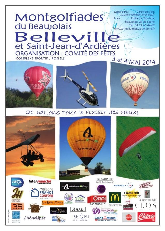 Montgolfiades du beaujolais les 3 et 4 mai 2014 au complexe joseph rosselli 69220 belleville
