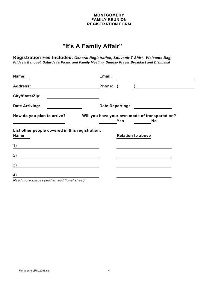 Montgomery Family Registration Form 2010