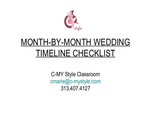 wedding timeline and checklist