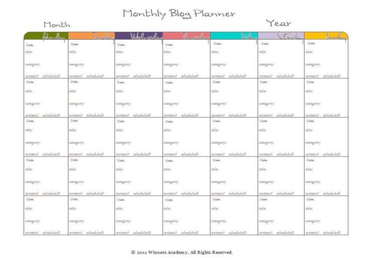 image regarding Blog Planner Template named Regular web site planner