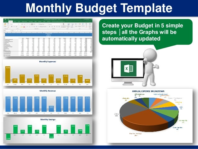 monthly budget template create your budget in 5 simple steps all the graphs will be
