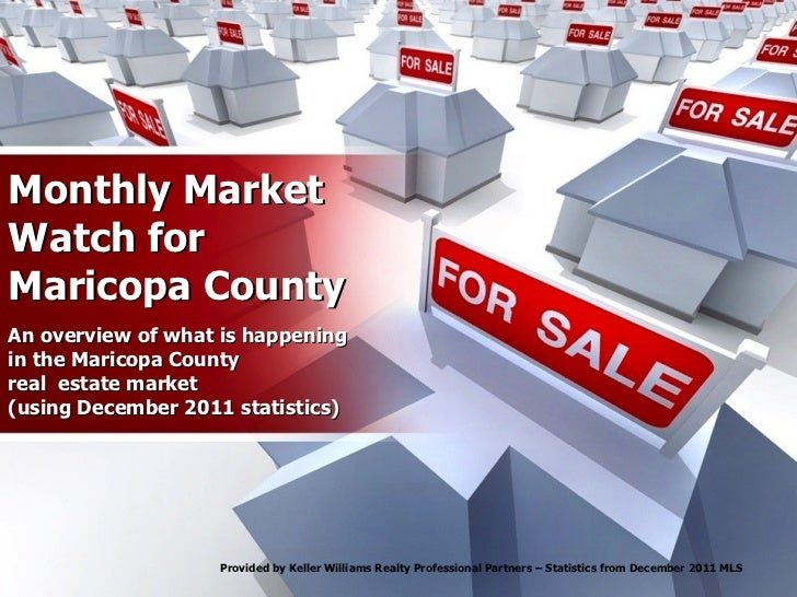 Monthly Market Watch for Maricopa County An overview of what is happening in the Maricopa County real  estate market (usin...