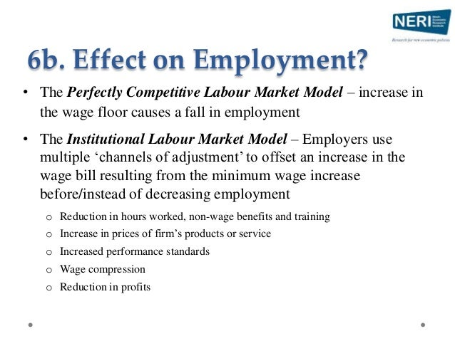 • Contrasting views in the literature • Negative employment effects in previous literature is limited o Only minor increas...