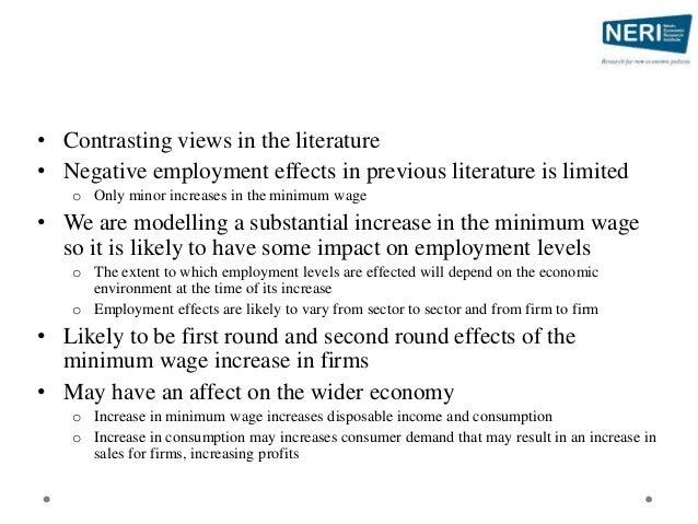 Effect on the Wage Distribution €2.40 €1.22 €1.73 €3.38 €2.18 0 0.5 1 1.5 2 2.5 3 3.5 4 1 2 3 4 HourlyWageGain Quartile Av...