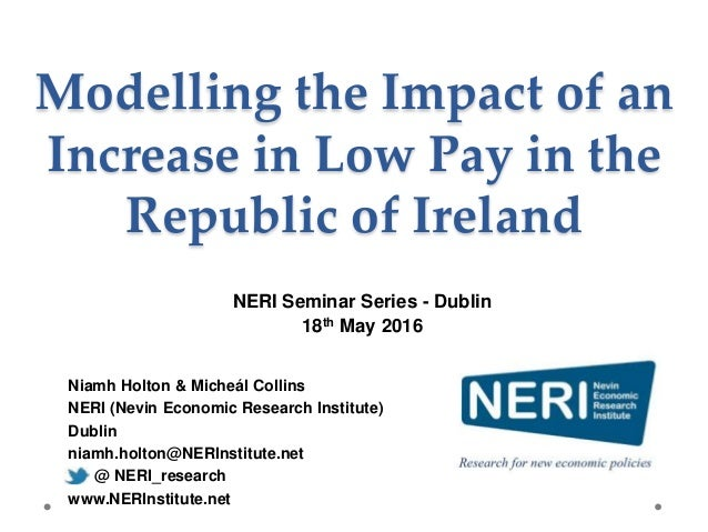 Modelling Increase in Low Pay 18th May 2016