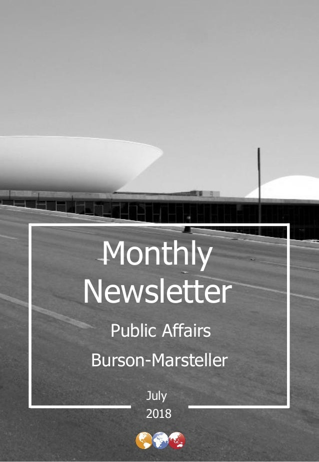 Monthly Newsletter Burson-Marsteller July Public Affairs 2018