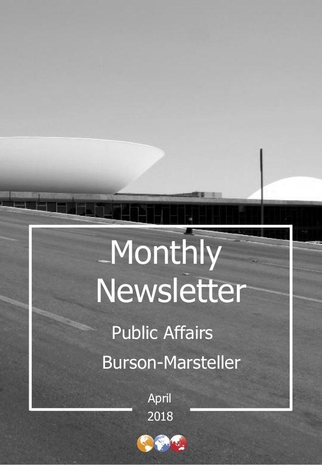 Monthly Newsletter Burson-Marsteller April Public Affairs 2018