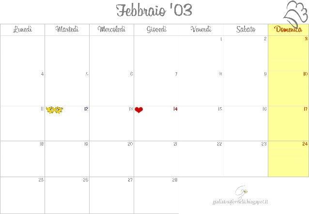 Monthly planner calendar_febbraio_2013