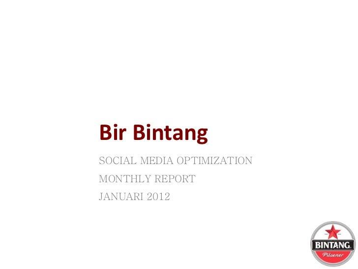 Monthly repor januari 2012