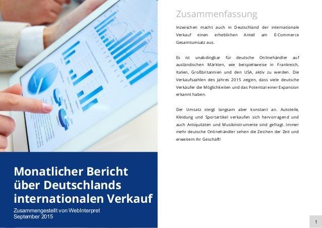 Inzwischen macht auch in Deutschland der internationale Verkauf einen erheblichen Anteil am E-Commerce Gesamtumsatz aus. E...