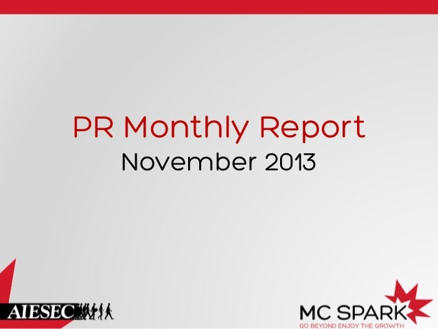 PR Monthly Report November 2013