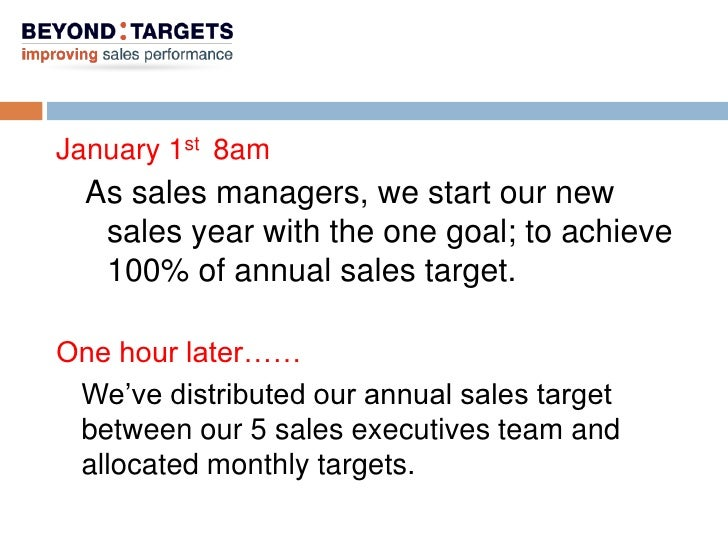 how to hit monthly sales target
