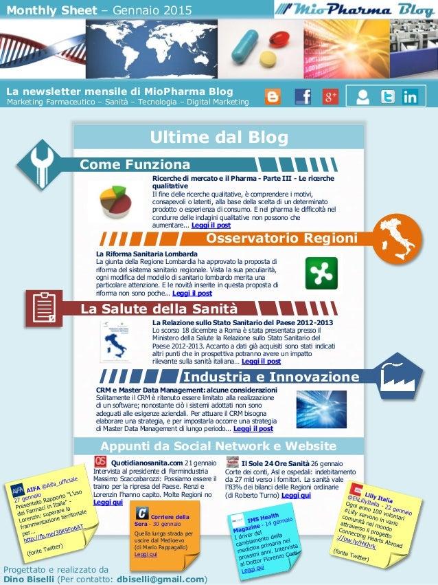 Monthly Sheet Miopharma Blog Gennaio 2015