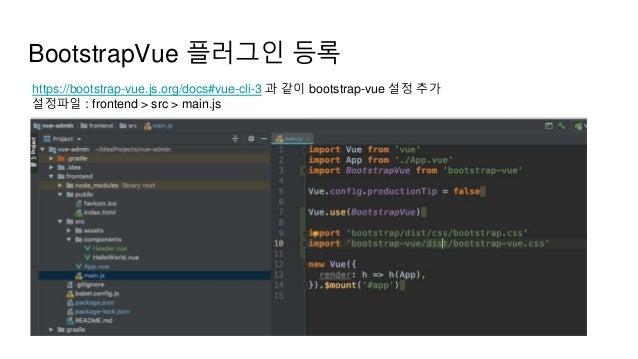 Hands-on Vue Springboot Simple Admin