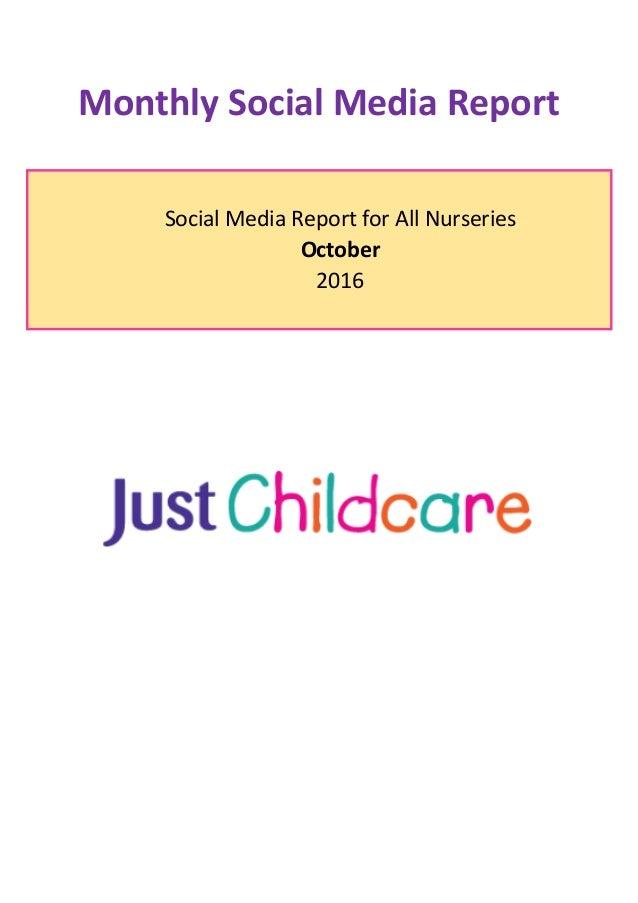 Monthly Social Media Report Social Media Report for All Nurseries October 2016