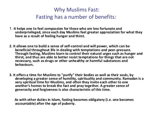 essay fasting muslims Islam the fast of ramadan: overview, purposes, discipline,  professor saghir akhtar has written an online essay for the bbc with health and diet advice during .