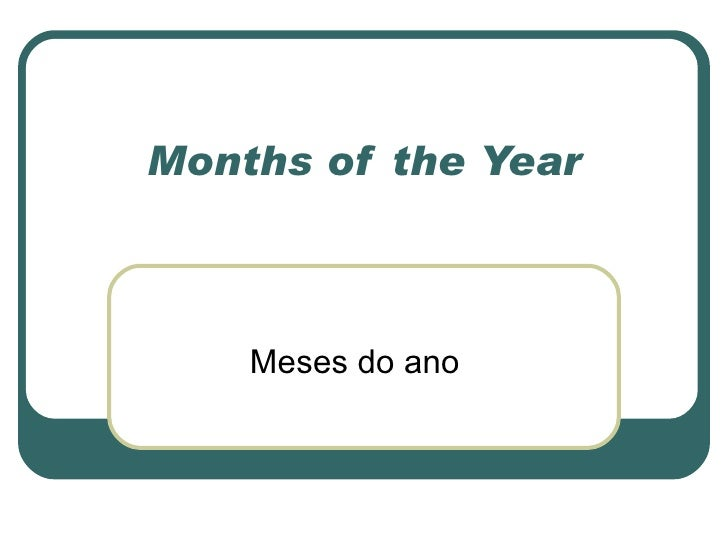 Months of the Year Meses do ano