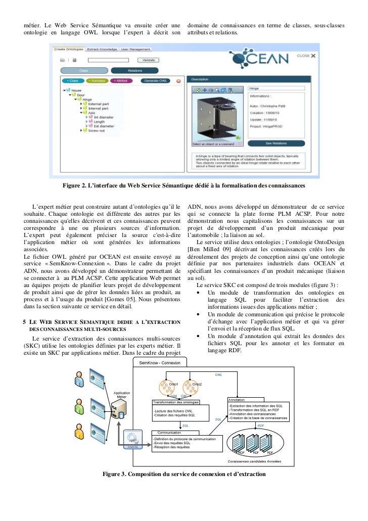métier. Le Web Service Sémantique va ensuite créer une             domaine de connaissances en terme de classes, sous-clas...