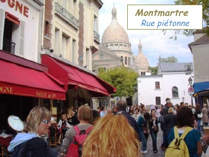 Montmartre   Rue piétonne