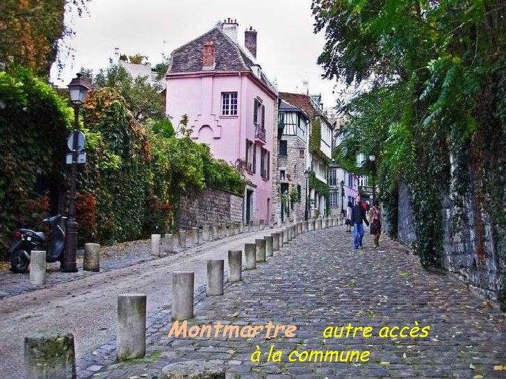 Montmartre   autre accès  .  .  à la commune