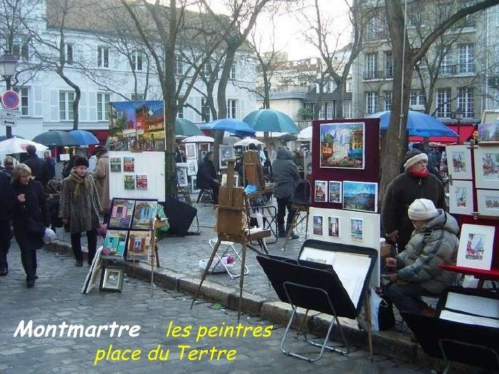 Montmartre   les peintres  .  .  place du Tertre