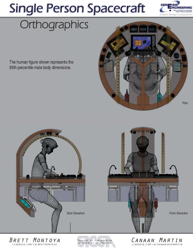 Genesis engineering 39 s single person spacecraft interior for Interior design person