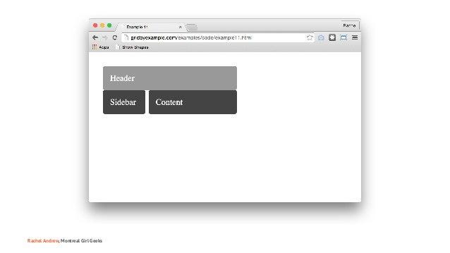 Montreal Girl Geeks: Building the Modern Web Slide 42
