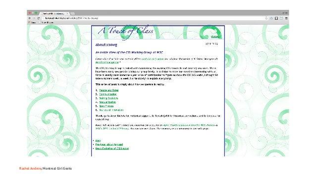 Montreal Girl Geeks: Building the Modern Web Slide 98
